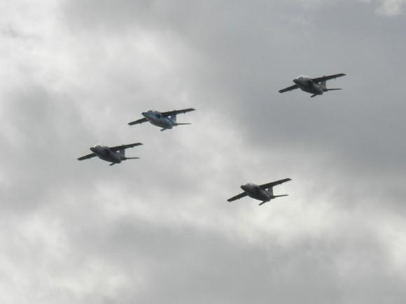 IA-63 PAMPA II no centenário da Av Militar Uruguaia - foto Força Aérea Argentina