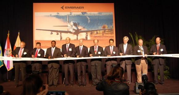 Inauguração Embraer Jacksonville - foto Embraer
