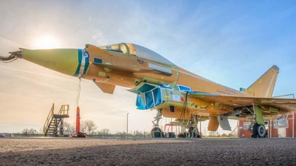 Primeiro Typhoon tranche 3 para a RAF completado para testes iniciais - foto BAE Systems