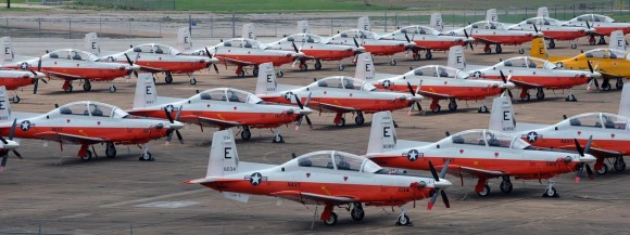 T-6B da USN em Pensacola - foto USN