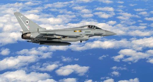 Typhoon RAF em exercício Razor Talon com USAF e USN - foto RAF