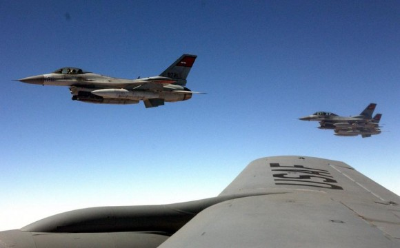 Caças F-16 egípcios em treinamento nos EUA - foto USAF