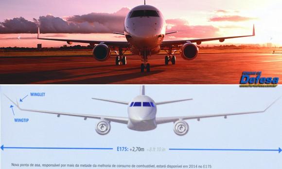 E-190 comparativo novo e velho