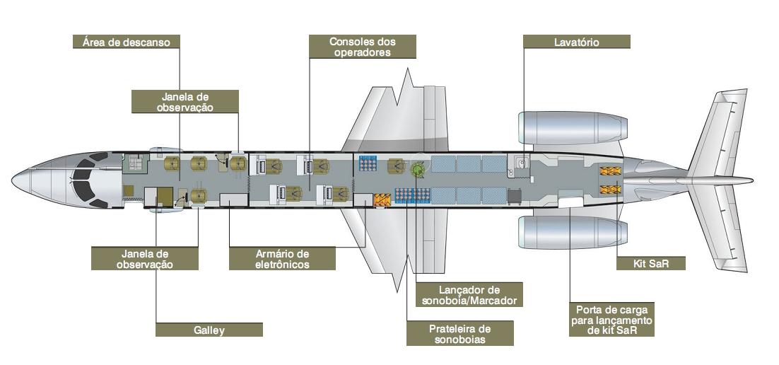 EMB-145 MP interno