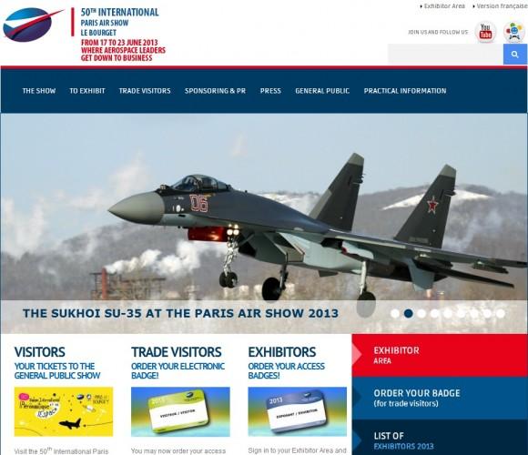 Página inicial Paris Air Show 2013
