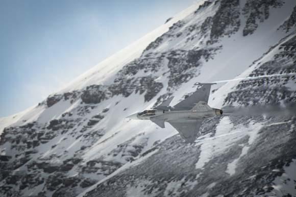 Testes de canhão do Gripen C - foto 3 Depto de Defesa da Suíça