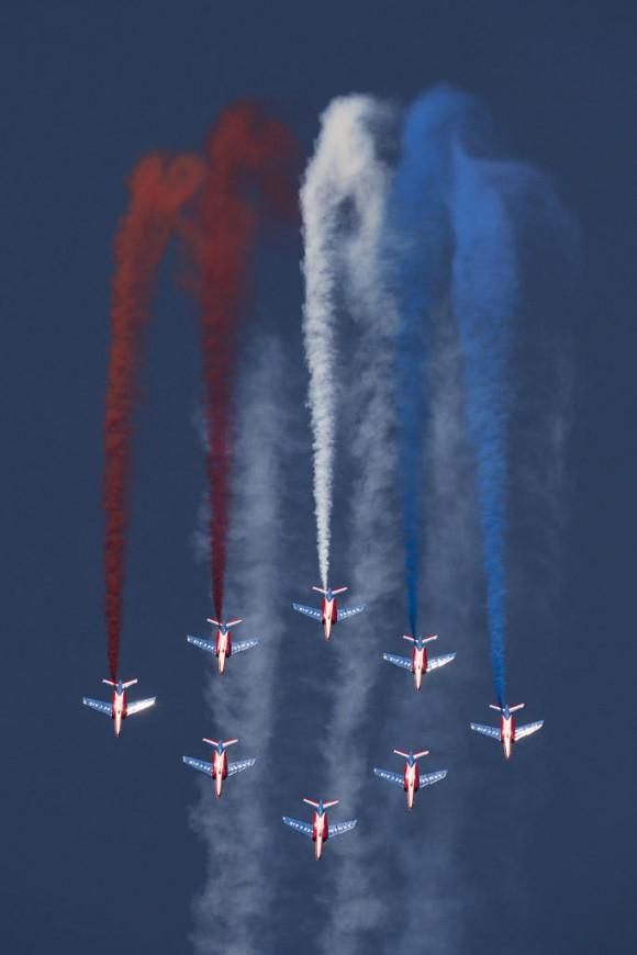 60 anos da Patrouille de France - foto Força Aérea Francesa