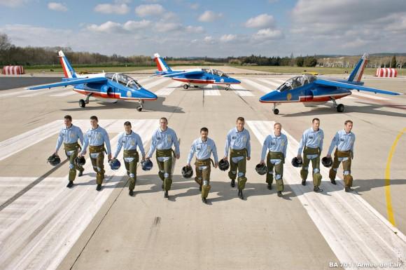 60 anos da Patrouille de France - pilotos se preparam - foto Força Aérea Francesa