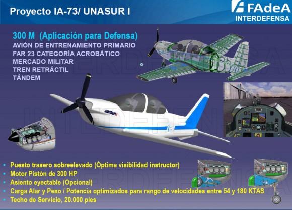IA-73 UNASUR I - conceito com motor pistão - imagem via Interdefensa