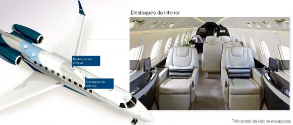 Legacy 600 - detalhe cabine - imagem 1 Embraer