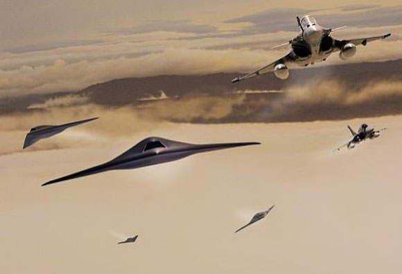 Neuron e Rafale - ilustração Dassault