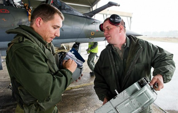 Recce Meet 2013 - câmeras do Mirage F1CR - foto Força Aérea Francesa