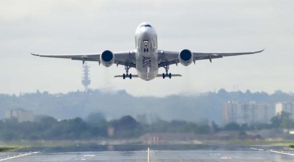 A350 voa pela primeira vez - foto Airbus