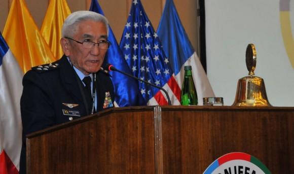 Comandante da Aeronáutica ten-brig Juniti Saito na LIII CONJEFAMER no Chile - SICOFAA - foto FACh