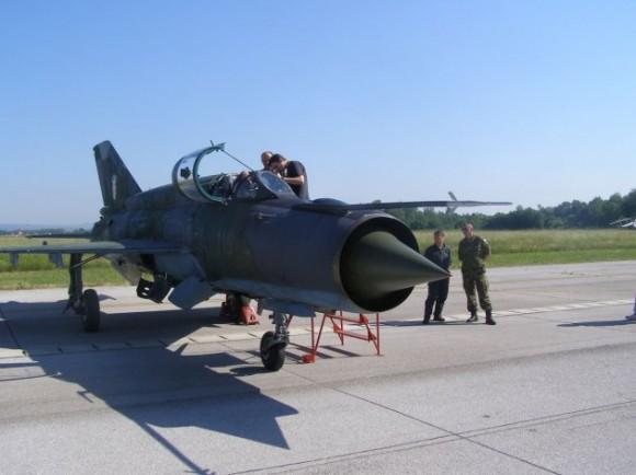 MiG-21 croata - foto 2 Ministério da Defesa da Croácia