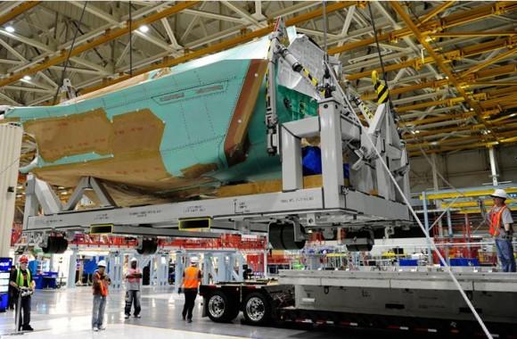 linha de montagem integrada para o F-35 - foto Northrop Grumman