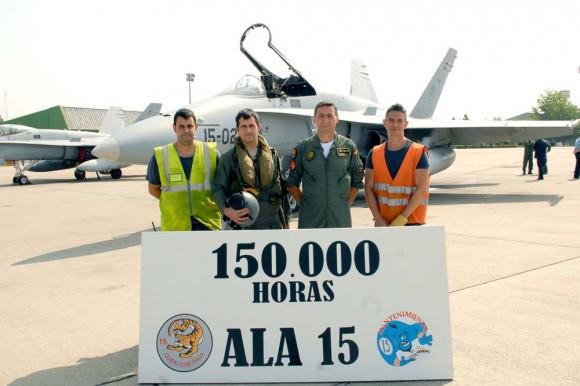 150 mil horas de voo em F-18 Hornet - C15 - na Ala 15 - foto 2 Força Aérea Espanhola