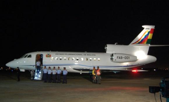 Falcon 900EX presidencial - foto Fuerza Aérea Boliviana