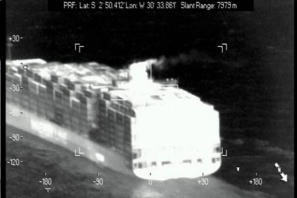 Imagem de navio em sensor - FAB