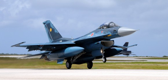 JASDF F-2 fighters arrive for Cope North  Guam 2009