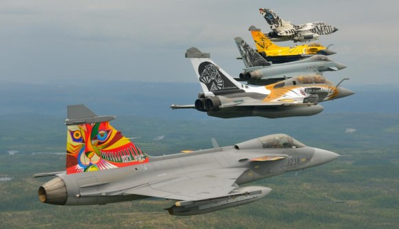 Tiger Meet 2013 - Gripen - Rafales - Typhoon e Tornado - foto via Força Aérea Francesa