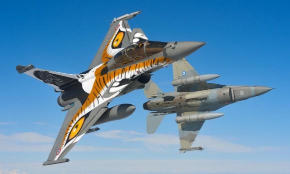 Tiger Meet 2013 - Rafale e F-16 - foto via Força Aérea Francesa