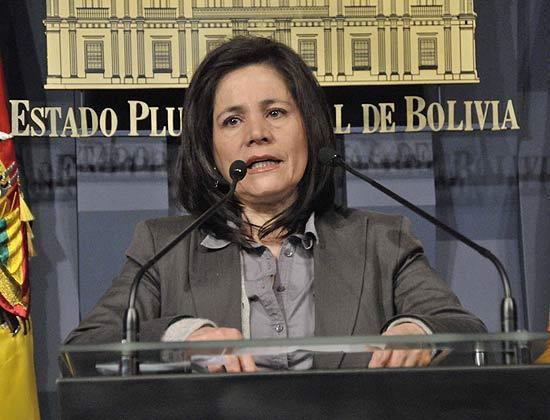 ministra da Comunicação da Bolívia Amanda Dávila