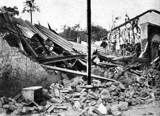 Efeito de bombardeio em Guará