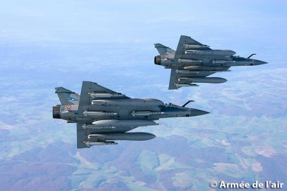Mirage 2000-5 do esquadrão Cigognes - foto Força Aérea Francesa