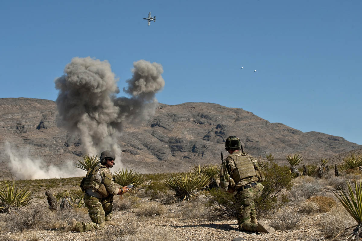 Close Air Support training at the Nevada Test and Training Range