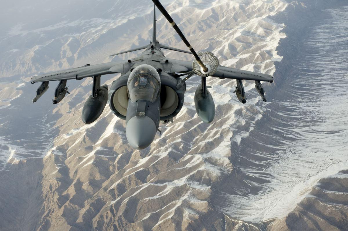 Harrier sobre o afeganistao