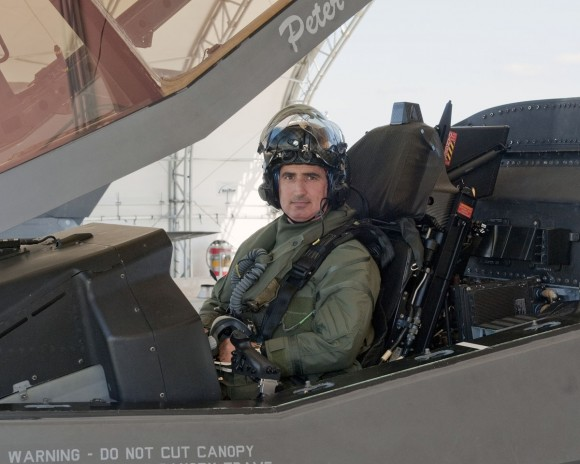 Col. Tomassetti's walk around for his first flight in a F-35 (BF-01).