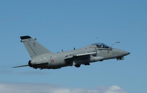 AMX italiano no Brilliant Mariner da OTAN - foto Força Aérea Italiana