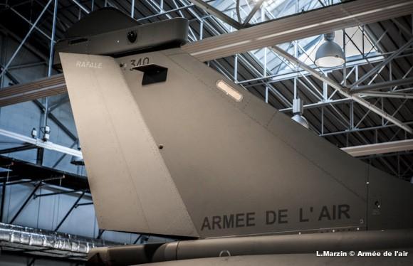 Cauda do Rafale B 340 - segundo do lote 4 de produção - Foto Força Aérea Francesa