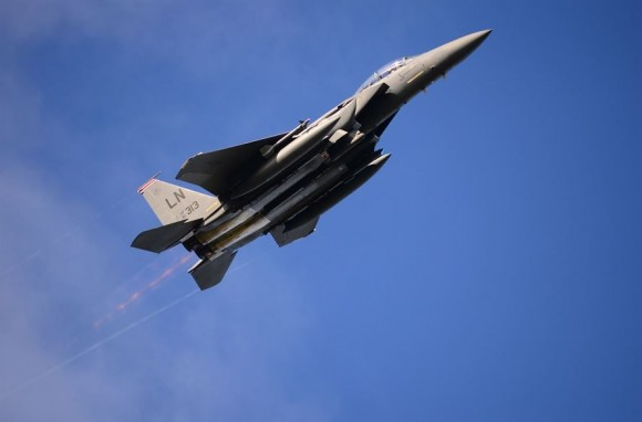 F-15E no Artic Challenge 2013 - foto USAF