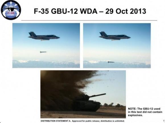 F-35 GBU-12 test