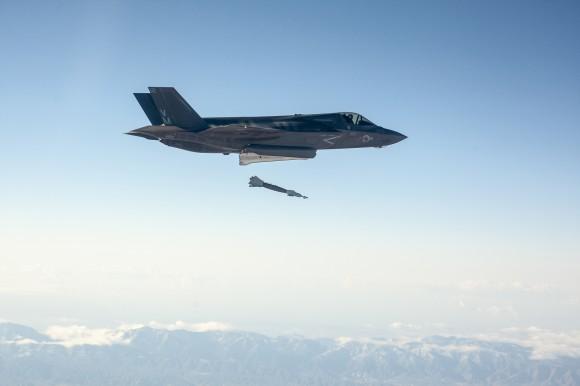 F-35B GBU-12 test