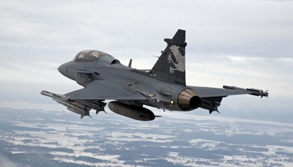 Gripen F de testes - foto Saab