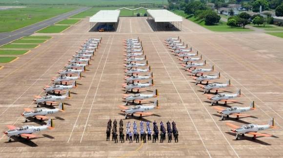 T-25 - 100 por cento de disponibilidade 42 aeronaves - foto FAB