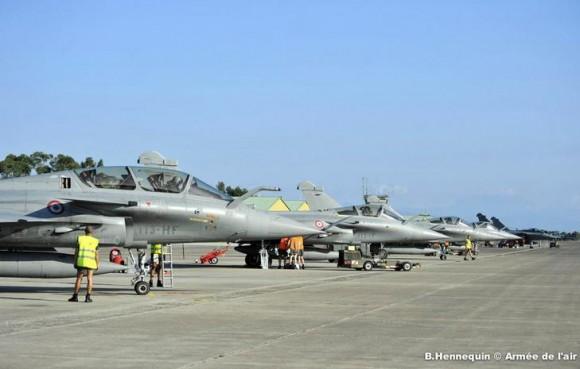caças Rafale em Solenzara - foto Força Aérea Francesa