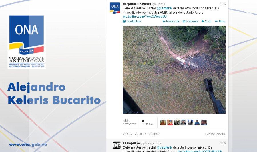 twitter-alejandro-keleris-derrubada-de-aeronave-venezuela