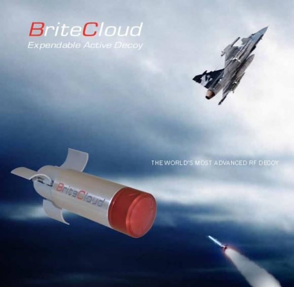 BriteCloud Expendable Active Decoy - imagem brochura de divulgação Selex