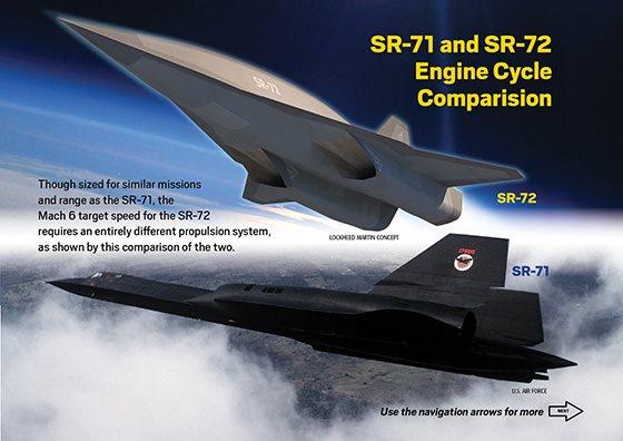 Comparativo SR-71 e SR-72 - Aviation Week via Tecmundo
