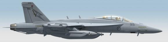 Growler com as cores da RAAF - concepção artística - imagem 2 Min Def Australia