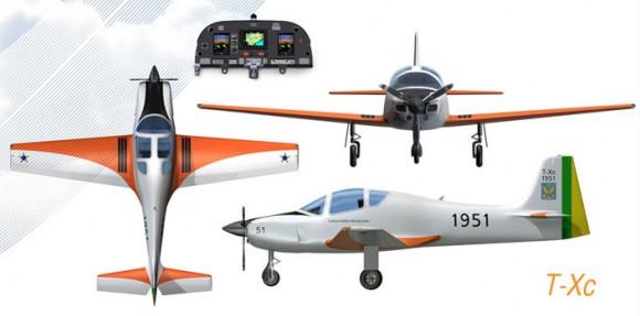 T-Xc - três vistas e painel - imagem Novaer