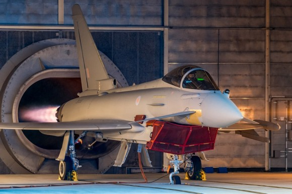 Testes de motor do primeiro Typhoon Tranche 3 - foto Eurofighter