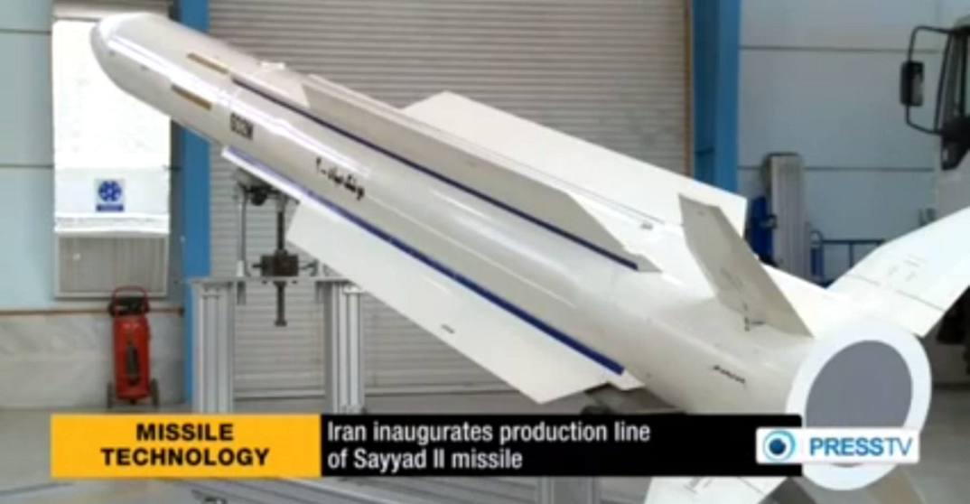 linha de producao de missil iraniano Sayyad II