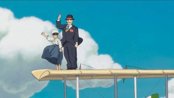 the wind rises - jovem Horikoshi em sonho com Caproni -  divulgação