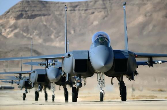 F15E da USAF no Blue Flag de Israel - foto USAF