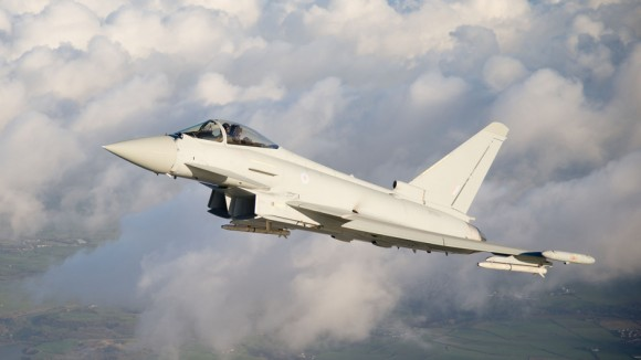 Primeiro voo Eurofighter Typhoon Tranche 3 - foto BAE Systems